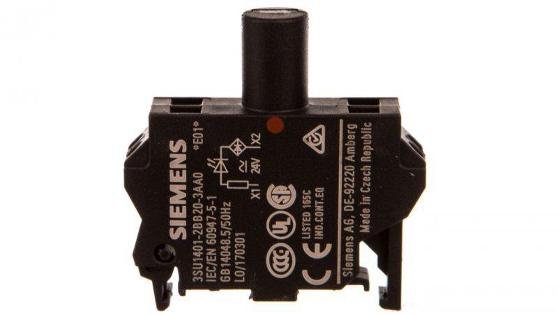 SIRIUS ACT Blok LED 24V AC/DC czerwony 3SU1401-2BB20-3AA0