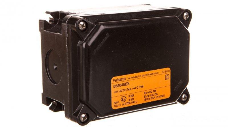 Puszka instalacyjna z niską pokrywą GRP 125X92X68 IP66 ATEX 2D-2G P532045EX