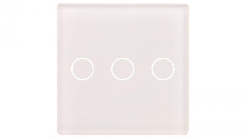 TouchMe Mały panel szklany, łącznik potrójny, biały TM532W