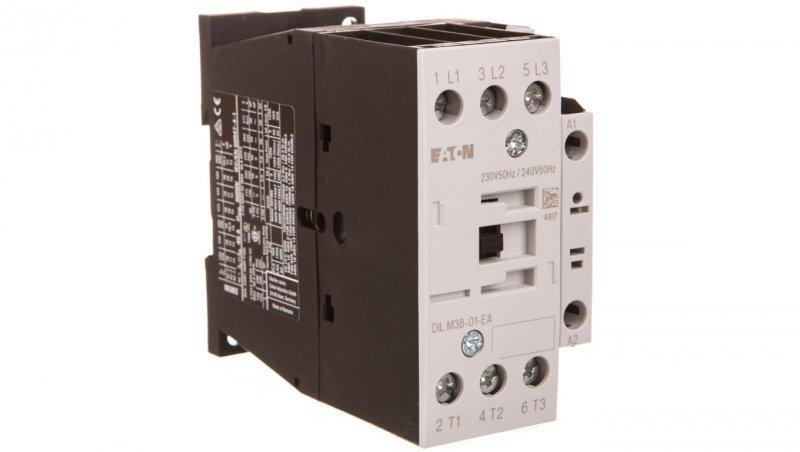 Stycznik mocy 38A 3P 230V AC 0Z 1R DILM38-01-EA(230V50HZ,240V60HZ) 190007