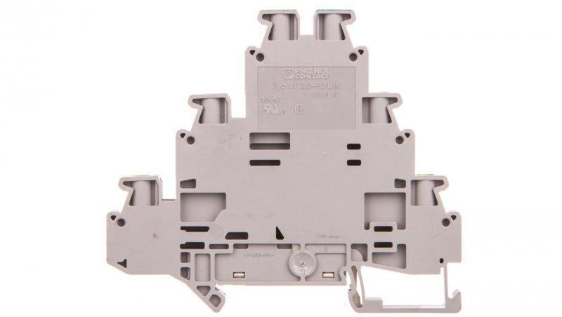 Złączka szynowa 3-piętrowa 0,14-4mm2 szara UT 2,5-PE/L/N 3214291