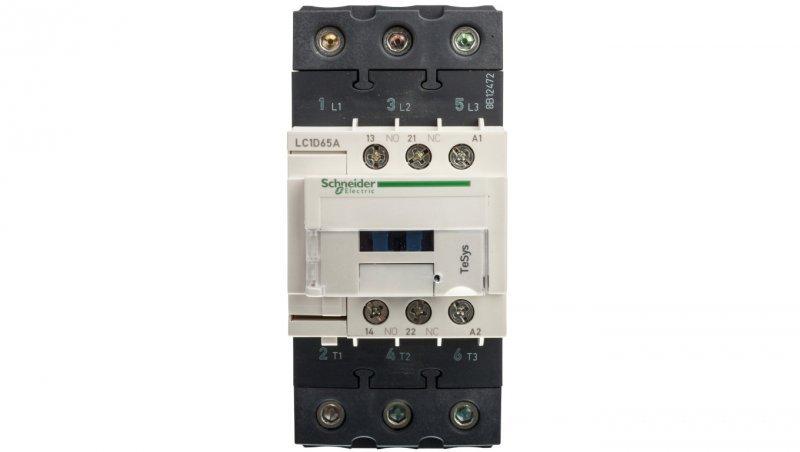 Stycznik mocy 65A 3P 24V AC 1Z 1R (EVK) LC1D65AB7
