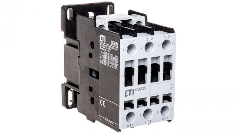 Stycznik mocy 25A 3P 230V AC 1Z 0R CEM25.10-230V-50/60Hz 004645123