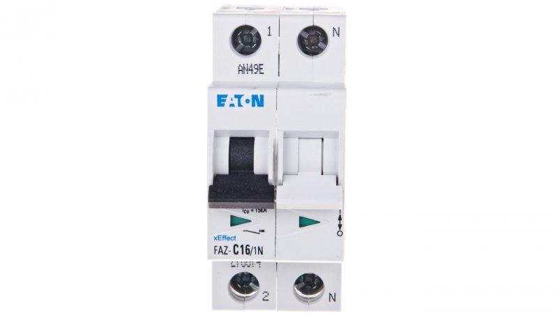 Wyłącznik nadprądowy 1+N C 16A 15kA AC FAZ C16/1N 278674