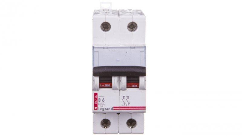 Wyłącznik nadprądowy 2P B 6A 10kA AC S312 TX3 404109