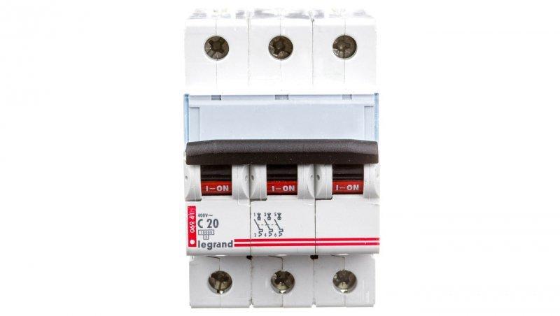 Wyłącznik nadprądowy 3P C 20A 10kA AC S313 TX3 404223