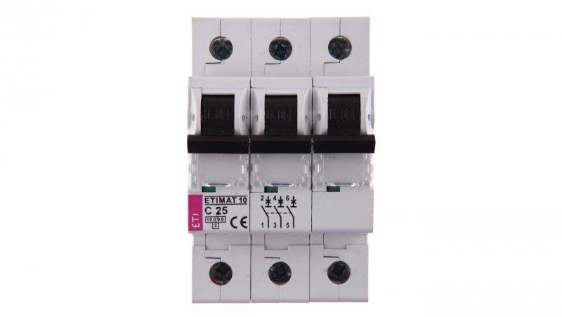 Wyłącznik nadprądowy 3P C 25A 10kA AC ETIMAT10 002135718