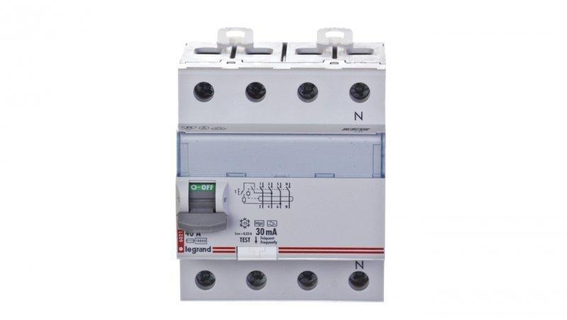Wyłącznik różnicowoprądowy 4P 40A 0,03A typ HPI P304 DX3 411695