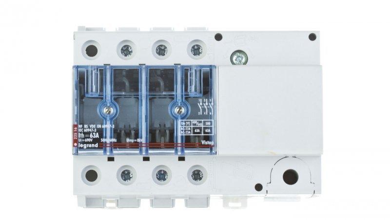 Rozłącznik izolacyjny 3P 63A VISTOP /napęd boczny czarny/ 022516