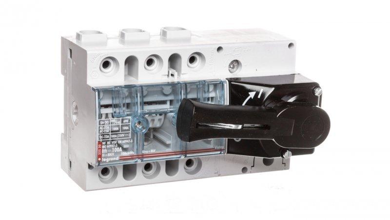 Rozłącznik izolacyjny 3P 100A VISTOP /napęd frontowy czarny/ 022520