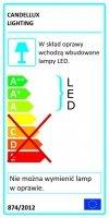 RAPSODY PLAFON 31X31 1X9W LED KWADRAT