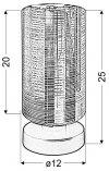 COX LAMPKA GABINETOWA 1X60W E27 CHROM