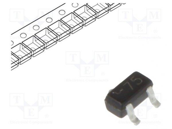 Dioda: przełączająca Schottky; SMD; 70V; 70mA; 5ns; SOT523; 150mW