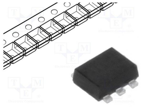 Dioda: prostownicza Schottky; SMD; 70V; 70mA; SOT666