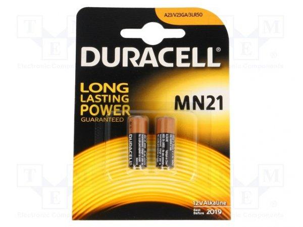 Bateria: alkaliczna; 12V; 23A,8LR932,A23; Il.bat: 2; Ø10x29mm