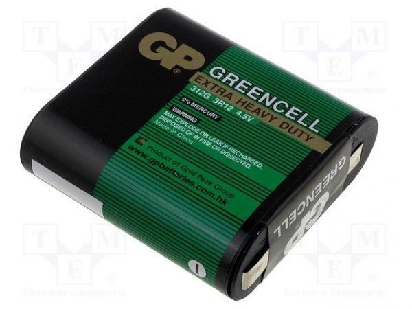 Bateria: cynkowo-węglowa; 4,5V; 3LR12,3R12; GREENCELL; Il.bat: 1