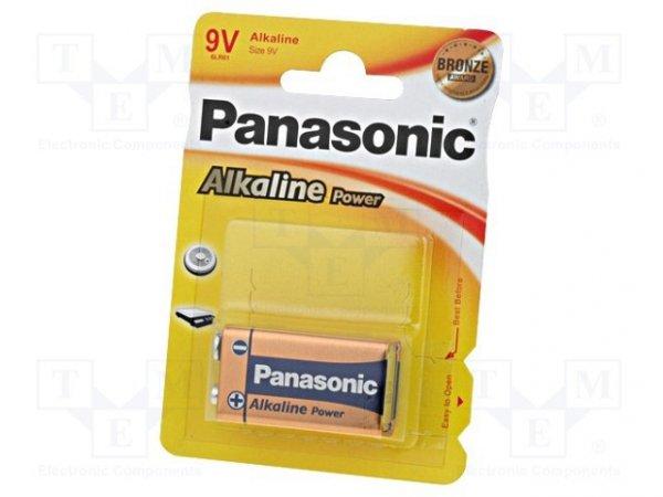 Bateria: alkaliczna; 9V; 6F22; BRONZE; Il.bat: 1; nieładowalna