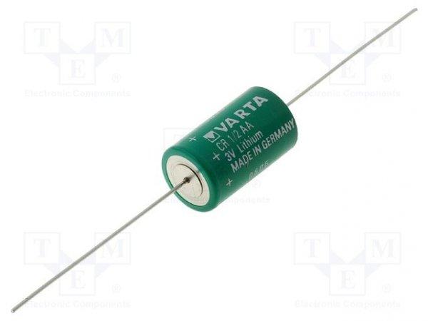 Bateria: litowa; 3V; 1/2AA; osiowe; Ø14,7x25mm; 950mAh