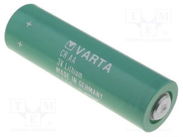 Bateria: litowa; 3V; AA; Ø14,7x50mm; 2000mAh; nieładowalna