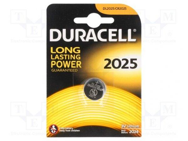 Bateria: litowa; 3V; CR2025,pastylkowa; Il.bat: 1; Ø20x2,5mm