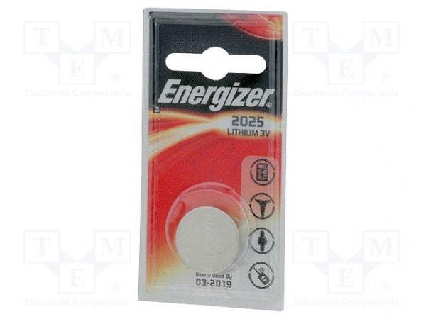 Bateria: litowa; 3V; CR2025,pastylkowa; Il.bat: 1; nieładowalna