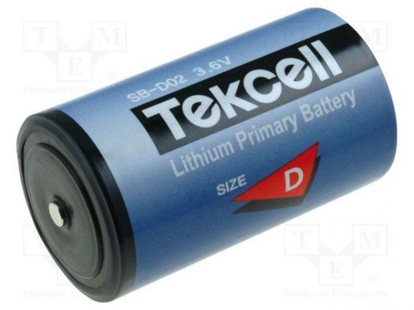 Bateria: litowa; 3,6V; D; Ø34x61mm; 19000mAh; nieładowalna