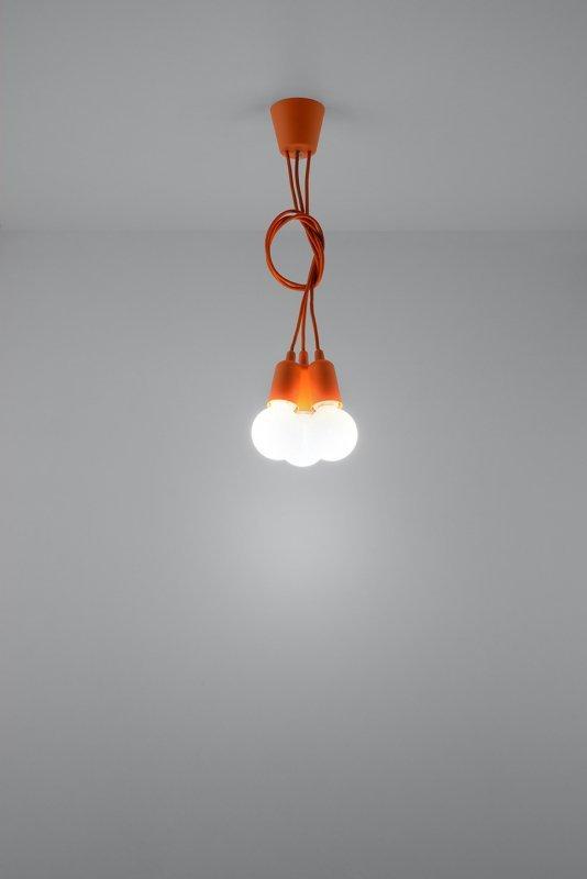 Lampa wisząca DIEGO 3 pomarańczowy