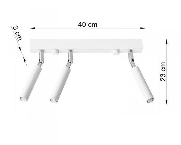 Plafon EYETECH 3 biały