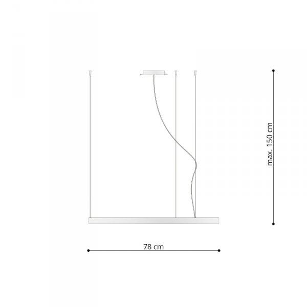 Żyrandol RIO 78 biały LED 3000K