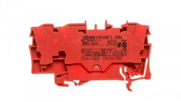 Złączka szynowa 3-przewodowa 4mm2 czerwona 2004-1303 TOPJOBS
