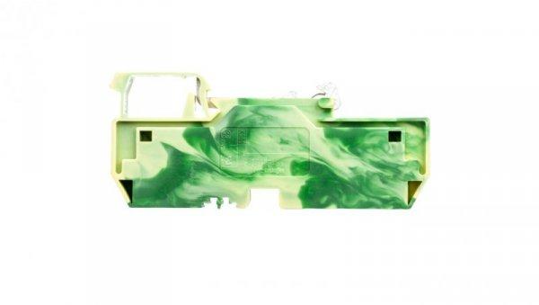 Złączka szynowa PE 3-przewodowa 6mm2 żółto-zielona 282-687
