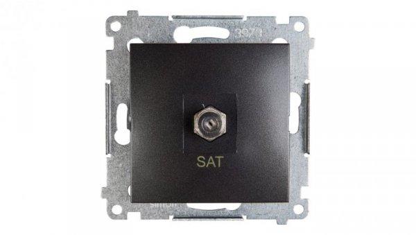Simon 54 Gniazdo antenowe pojedyncze SAT antracyt DASF1.01/48