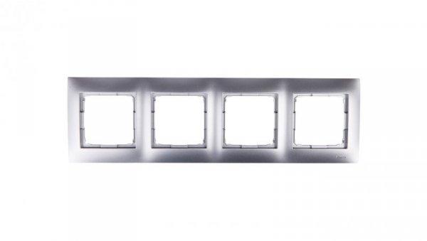 Simon 54 Premium Ramka poczwórna srebrny mat /do karton-gips/ DRK4/43