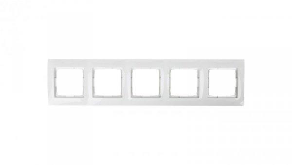 Simon 54 Premium Ramka pięciokrotna biała DR5/11