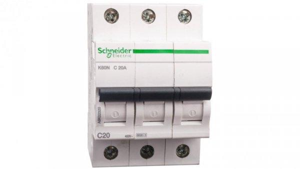 Wyłącznik nadprądowy 3P C 20A 6kA AC K60N A9K02320