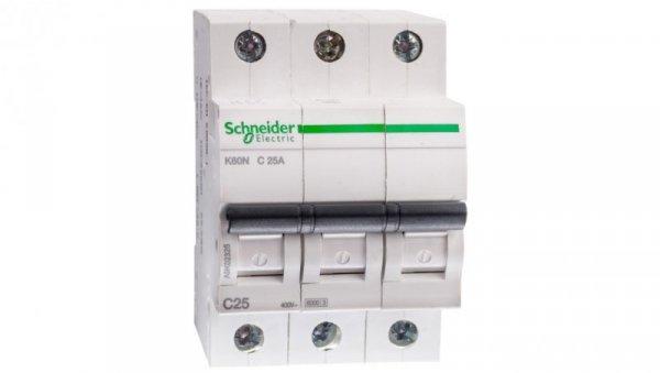 Wyłącznik nadprądowy 3P C 25A 6kA AC K60N A9K02325