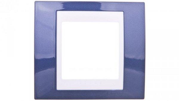Unica Plus Ramka pojedyncza błękit indygo pozioma i pionowa MGU6.002.842