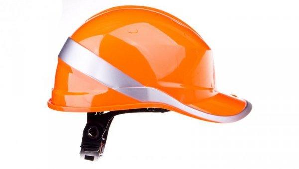 Hełm budowlany pomarańczowy z ABS, rozmiar regulowany DIAM5ORFL