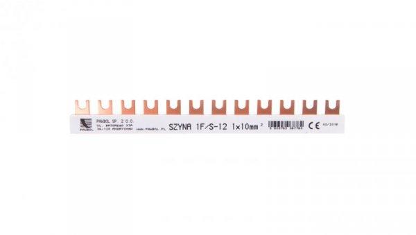 Szyna łączeniowa 1P 63A 10mm2 widełkowa (12mod.) S-12 E.4300