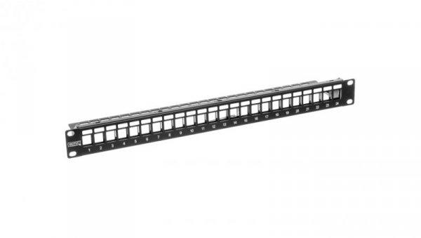 Patch panel pusty 19 cali 24x keys 1U czarny (RAL 9005) DN-91411