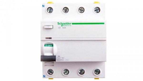 Wyłącznik różnicowoprądowy 4P 40A 0,3A typ AC iID A9Z14440