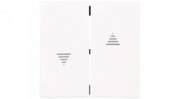 Merten System M Klawisz podwójny łącznika żaluzjowego z symbolem ,strzałka, czysta biel MTN432425