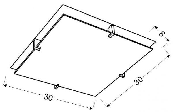 FIKUS PLAFON 30X30 1X60W E27 CHROM