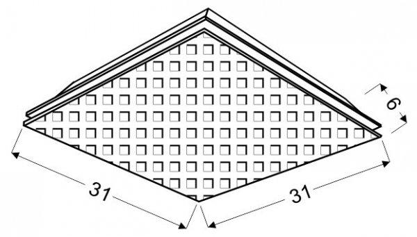 MOSAIC PLAFON 31X31 1X9W LED