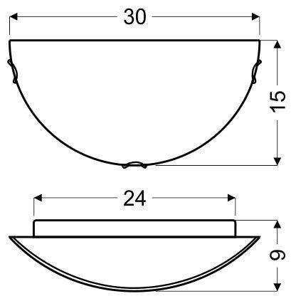 EDGAR PLAFON 0,5 1X60W E27