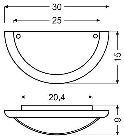 GRECKI PLAFON 1/2 1X60W E27 BRĄZ ALABASTER