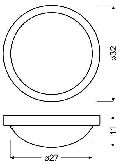 RODA PLAFON 32  E27 2X60W CHROM