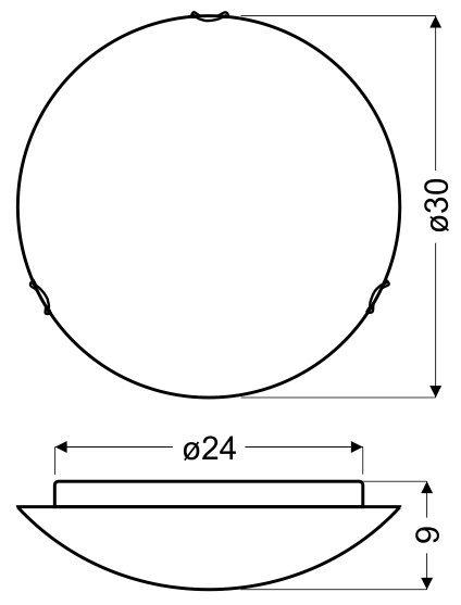 EDGAR PLAFON 30 1X60W E27
