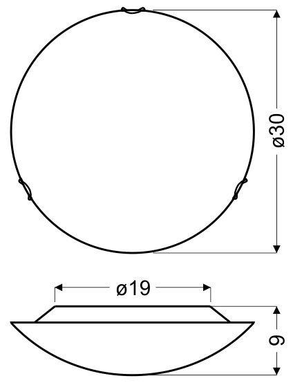 CIRCLE PLAFON 30 1X60W E27