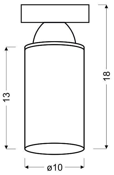 INDIRA AMPLA 10 1X40W E14 BIAŁY